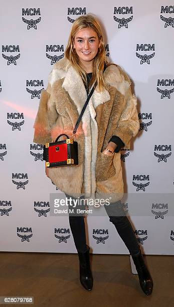 Camille Charriere attends MCM's London Flagship Opening Party on December 6 2016 in London England