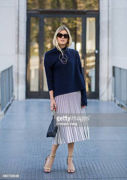 Camille Charriere during Paris Fashion Week Womenswear Spring/Summer 2016 on September 30 2015 in Paris France