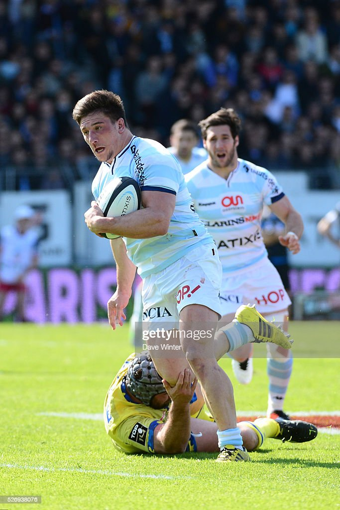 Camille Chat of Racing 92 during the French Top 14 rugby union match between Racing 92 v Clermont at Stade Yves Du Manoir on May 1, 2016 in Colombes, France.