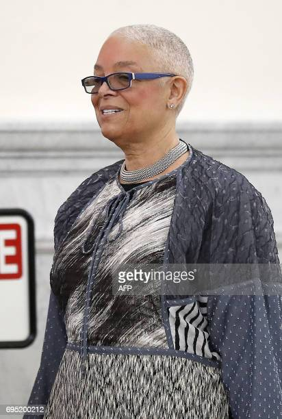 CORRECTION Camille Cosby arrives at the Montgomery County Courthouse in Norristown Pennsylvania as the assault trial of her husband Bill Cosby...