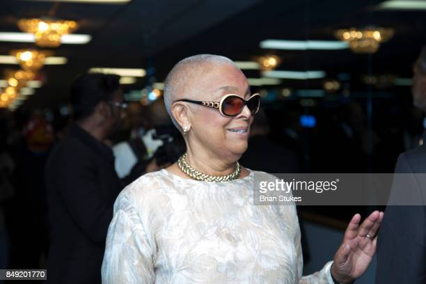 Camille Cosby attend Dick Gregory's Celebration Of Life at City of Praise Family Ministries on September 16 2017 in Landover Maryland