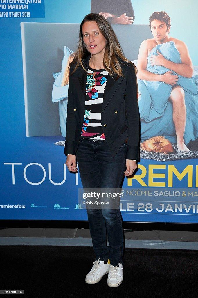 camille cottin attends the 39 toute premiere fois 39 paris premiere at ugc cine cite bercy on. Black Bedroom Furniture Sets. Home Design Ideas