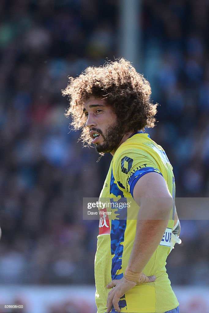Camille Gerondeau of Clermont during the French Top 14 rugby union match between Racing 92 v Clermont at Stade Yves Du Manoir on May 1, 2016 in Colombes, France.