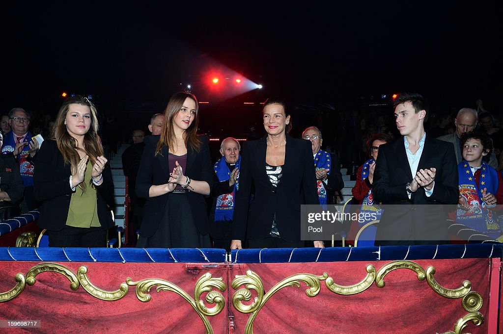 Camille Gotlieb, Pauline Ducruet, Princess Stephanie of Monaco and Louis Ducruet attend day two of the Monte-Carlo 37th International Circus Festival on January 18, 2013 in Monte-Carlo, Monaco.