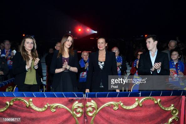 Camille Gotlieb Pauline Ducruet Princess Stephanie of Monaco and Louis Ducruet attend day two of the MonteCarlo 37th International Circus Festival on...