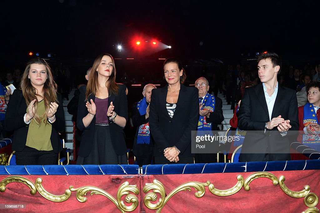 Camille Gotlieb, Pauline Ducruet, Princess Stephanie of Monaco and Louis Ducruet attend day two of the Monte-Carlo 37th International Circus Festival on January 18, 2013 in Monte-Carlo, Monaco.