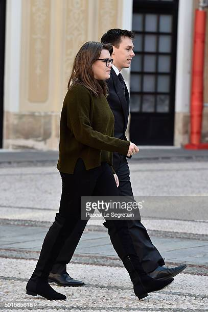 Camille Gottlieb and Louis Ducruet attend the Christmas gifts distribution on December 16 2015 in Monaco Monaco