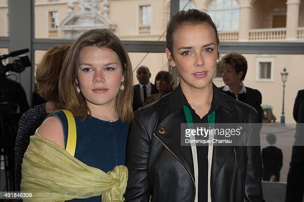 Camille Gottlieb and Pauline Ducruet attend the Louis Vuitton Cruise Line Show at place d'armes on May 17 2014 in MonteCarlo Monaco