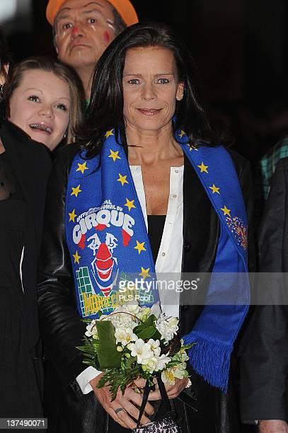 Camille Gottlieb and Princess Stephanie of Monaco attend the MonteCarlo 36th International Circus Festival on January 21 2012 in MonteCarlo Monaco