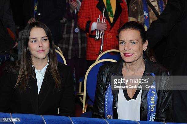 Camille Gottlieb and Princess Stephanie of Monaco attend the 39th International Circus Festival of MonteCarlo on January 18 2015 in Monaco
