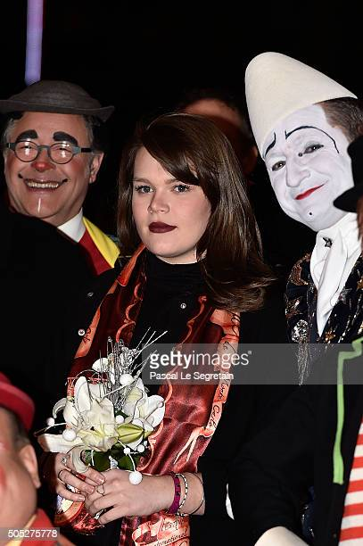 Camille Gottlieb attends the 40th International Circus Festival on January 16 2016 in Monaco Monaco