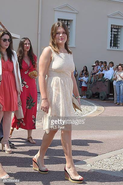 Camille Gottlieb attends the First Day of the 10th Anniversary on the Throne Celebrations on July 11 2015 in Monaco Monaco