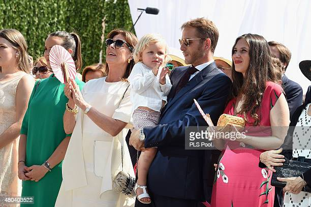 Camille Gottlieb Pauline Ducruet Princess Caroline of Hanover Andrea Casiraghi with Sasha and Tatiana Casiraghi attend the First Day of the 10th...