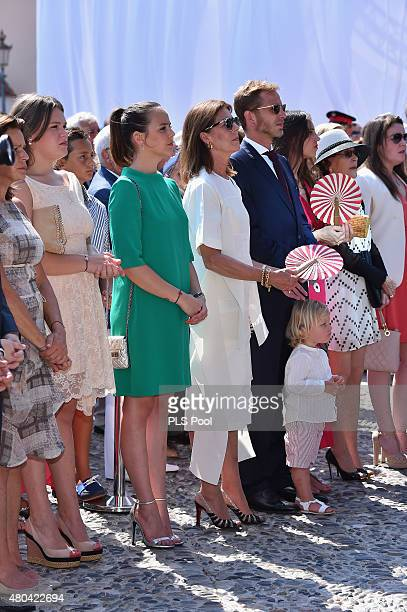 Camille Gottlieb Pauline Ducruet Princess Caroline of Hanover Andrea Casiraghi and Tatiana Casiraghi attend the First Day of the 10th Anniversary on...