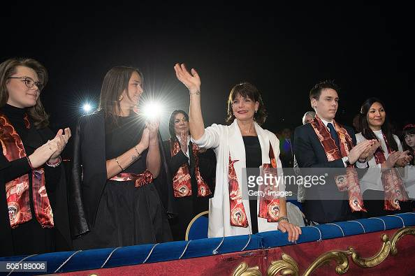 Camille Gottlieb Pauline Ducruet Princess Stephanie of Monaco and Louis Ducruet attend the 40th International Circus Festival on January 15 2016 in...