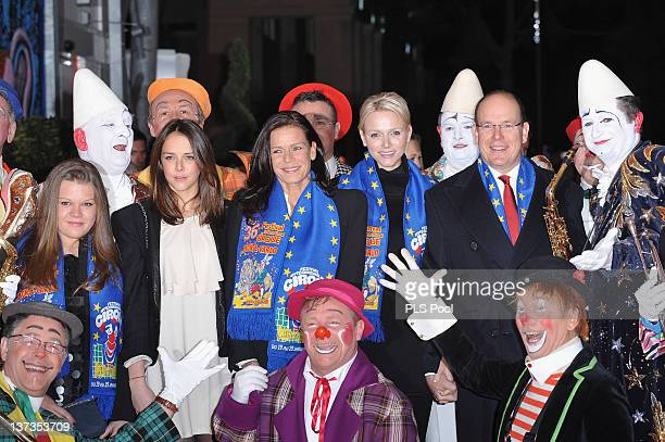 Camille Gottlieb Pauline Ducruet Princess Stephanie of Monaco Princess Charlene of Monaco and Prince Albert II of Monaco attend the opening ceremony...