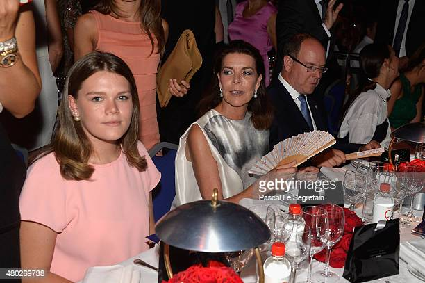 Camille Gottlieb Princess Caroline of Hanover and Prince Albert II of Monaco attend the Fight Aids Charity Gala In MonteCarlo on July 10 2015 in...