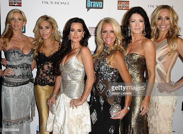 Camille Grammer Adrienne Maloof Kyle Richards Kim Richards Lisa VanderPump and Taylor Armstrong attend 'The Real Housewives of Beverly Hills' series...