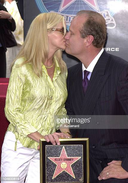 Camille Grammer and Kelsey Grammer during Kelsey Grammer Honored with a Star on the Hollywood Walk of Fame at Hollywood Boulevard in Hollywood...