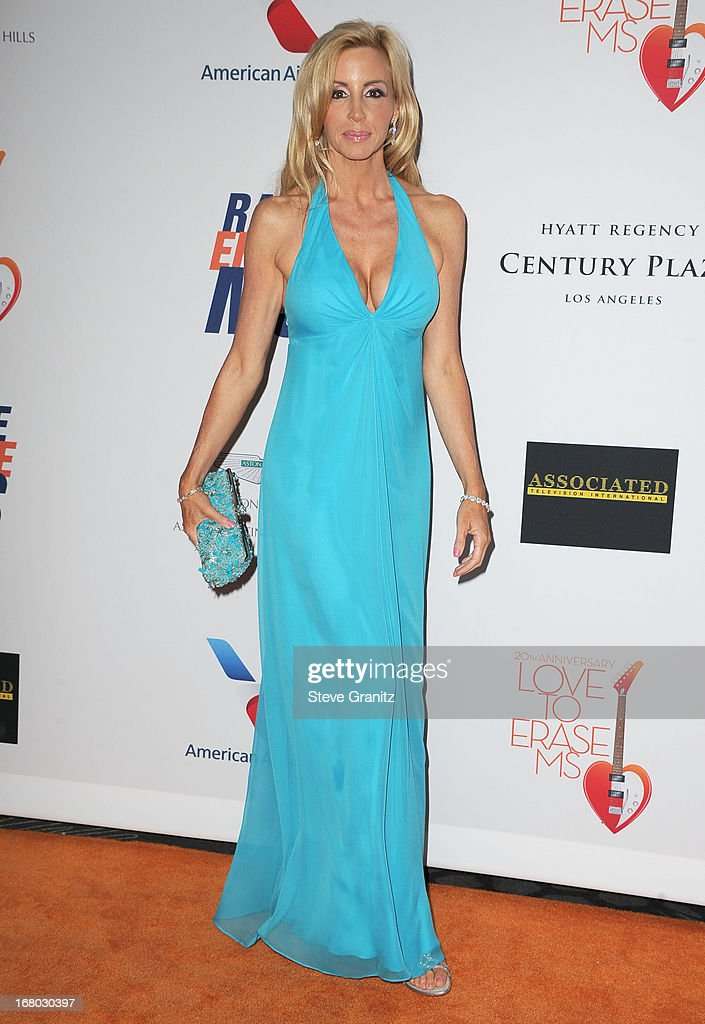 Camille Grammer arrives at the 20th Annual Race To Erase MS Gala 'Love To Erase MS' at the Hyatt Regency Century Plaza on May 3, 2013 in Century City, California.