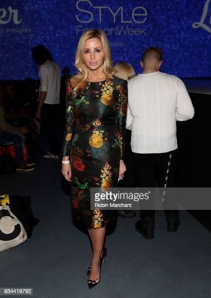 Camille Grammer attends Malan Breton Front Row during New York Fashion Week at Madison Square Garden Theater on February 9 2017 in New York City