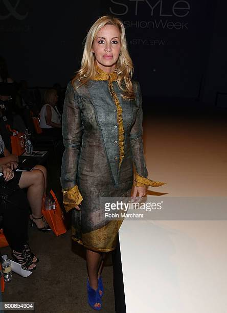 Camille Grammer attends Malan Breton September 2016 Show during New York Fashion Week at Hammerstein Ballroom on September 8 2016 in New York City