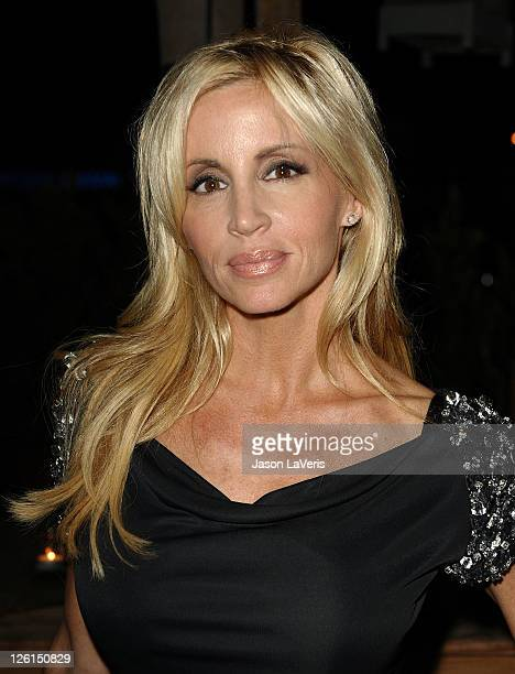 Camille Grammer attends The Real Housewives of Beverly Hills joint birthday celebration at SUR Lounge on September 22 2011 in Los Angeles California