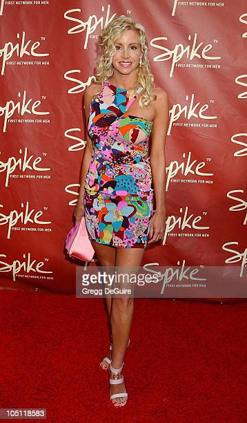 Camille Grammer during Launch of Spike TV at the Playboy Mansion at Playboy Mansion in Los Angeles California United States