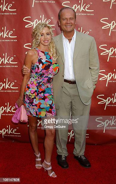 Camille Grammer Kelsey Grammer during Launch of Spike TV at the Playboy Mansion at Playboy Mansion in Los Angeles California United States