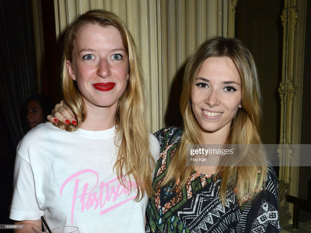 Camille Hermant from Bandit Bandit band and Katty Besnard from the Plasticines attend the the Plastiscines private concert hosted by MTV Pulse at The Carmen Club on October 9, 2013 in Paris, France.