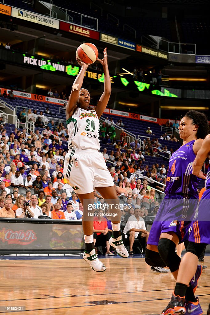 <a gi-track='captionPersonalityLinkClicked' href=/galleries/search?phrase=Camille+Little&family=editorial&specificpeople=707865 ng-click='$event.stopPropagation()'>Camille Little</a> #20 of the Seattle Storm shoots against <a gi-track='captionPersonalityLinkClicked' href=/galleries/search?phrase=Candice+Dupree&family=editorial&specificpeople=537818 ng-click='$event.stopPropagation()'>Candice Dupree</a> #4 of the Phoenix Mercury on May 17, 2014 at US Airways Center in Phoenix, Arizona.