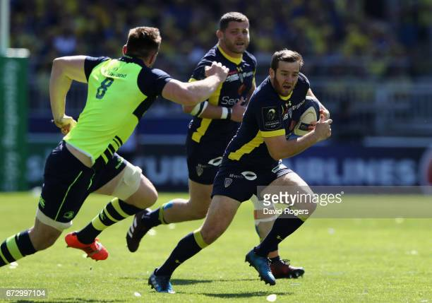 Camille Lopez of Clermont Auvergne runs with the ball during the European Rugby Champions Cup semi final match between ASM Clermont Auvergne and...