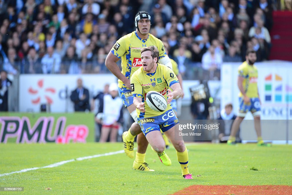 Camille Lopez of Clermont during the French Top 14 rugby union match between Racing 92 v Clermont at Stade Yves Du Manoir on May 1, 2016 in Colombes, France.
