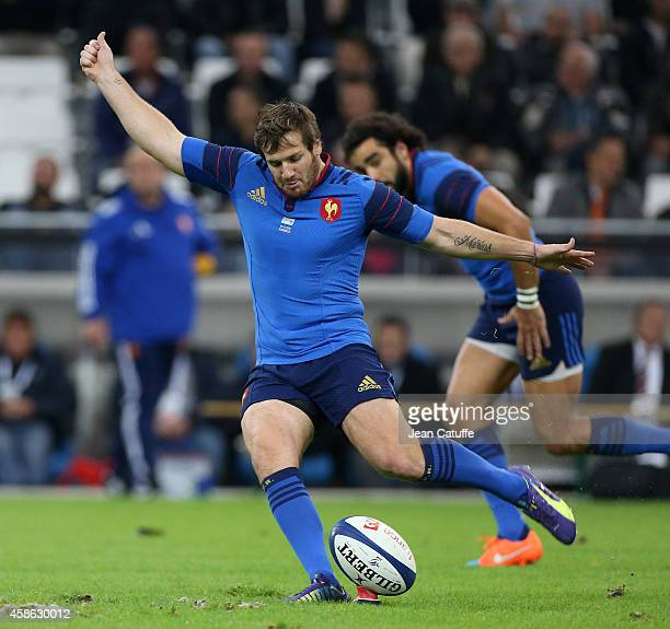 Camille Lopez of France in action during the international friendly match between France and Fiji on November 8 2014 in Marseille France