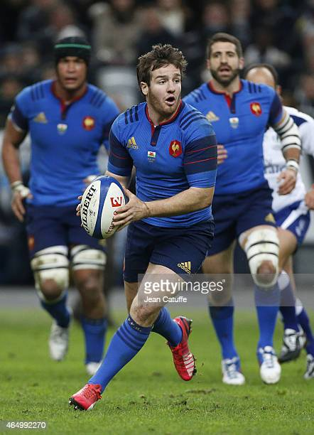 Camille Lopez of France in action during the RBS Six Nations rugby match between France and Wales at Stade de France stadium on February 28 2015 in...