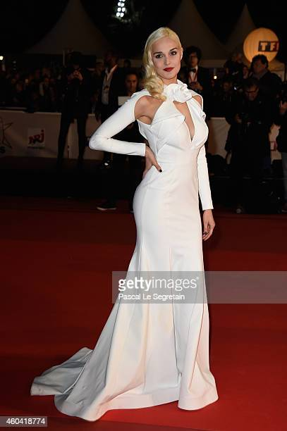 Camille Lou attends the NRJ Music Awards at Palais des Festivals on December 13 2014 in Cannes France