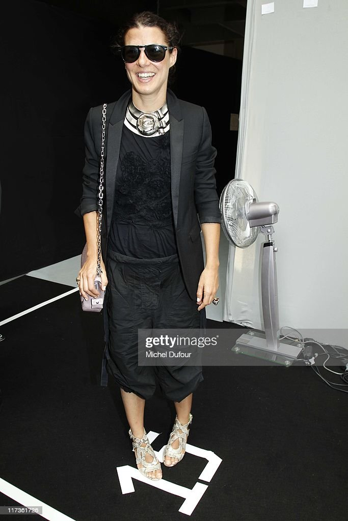 Camille Miceli attends the Dior Homme Menswear Spring/Summer 2012 show as part of Paris Fashion Week at on June 25, 2011 in Paris, France.