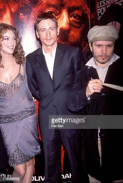 Camille Nata and Benoit Magimel Olivier Dahan during 'Purple Rivers 2' Paris Premiere at Gaumont Marignan in Paris France