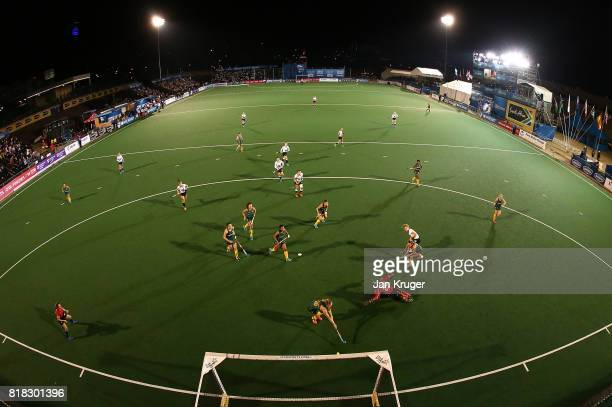 Camille Nobis of Germany scores the opening goal during day 6 of the FIH Hockey World League Women's Semi Finals quarter final match between Germany...
