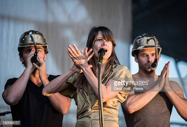 Camille performs at We Love Green Festival at Parc de Bagatelle on September 15 2012 in Paris France