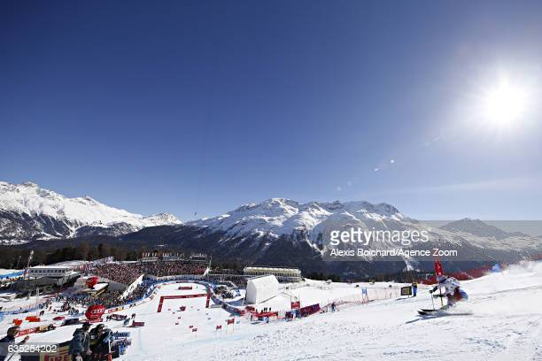 Camille Rast competes during the FIS Alpine Ski World Championships Nation Team Event on February 14 2017 in St Moritz Switzerland