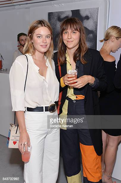 Camille Rowe and Claire Hungerford attend Fete Harriett A Fundraiser Benefiting The Harriett Buhai Center For Family Law at Austere on June 29 2016...