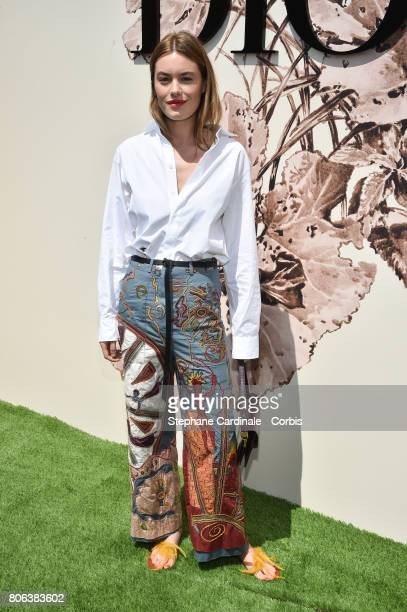 Camille Rowe attends the Christian Dior Haute Couture Fall/Winter 20172018 show as part of Haute Couture Paris Fashion Week on July 3 2017 in Paris...