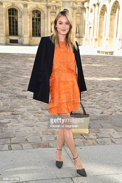 Camille Rowe attends the Christian Dior show as part of the Paris Fashion Week Womenswear Spring/Summer 2015 on September 26 2014 in Paris France