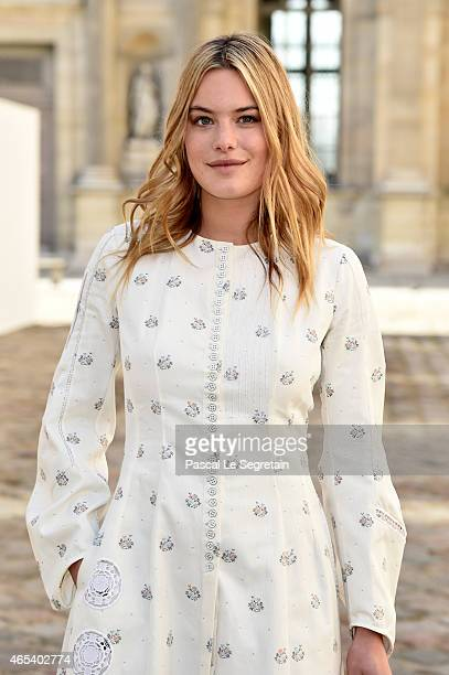 Camille Rowe attends the Christian Dior show as part of the Paris Fashion Week Womenswear Fall/Winter 2015/2016 on March 6 2015 in Paris France