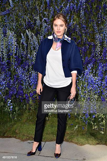 Camille Rowe attends the Christian Dior show as part of the Paris Fashion Week Womenswear Spring/Summer 2016 on October 2 2015 in Paris France
