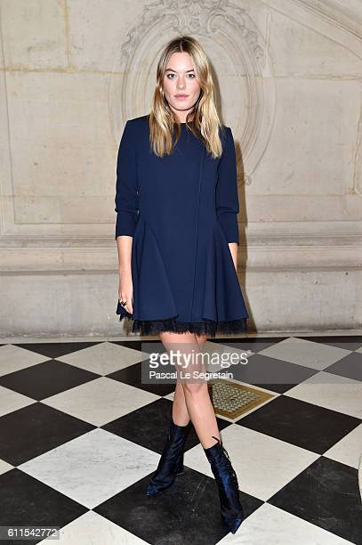 Camille Rowe attends the Christian Dior show of the Paris Fashion Week Womenswear Spring/Summer 2017 on September 30 2016 in Paris France