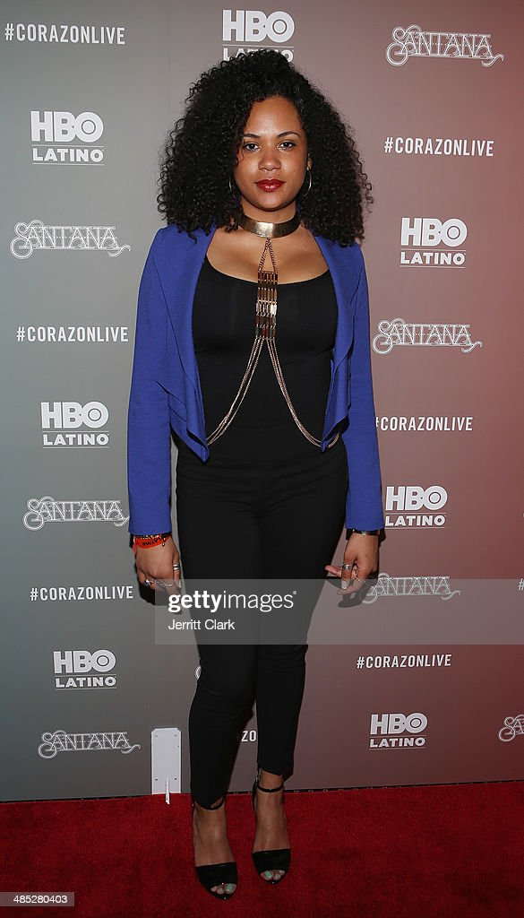 Camille Safiya attends the HBO Latino NYC Premiere of 'Santana: De Corazon' at Hudson Theatre on April 16, 2014 in New York City.