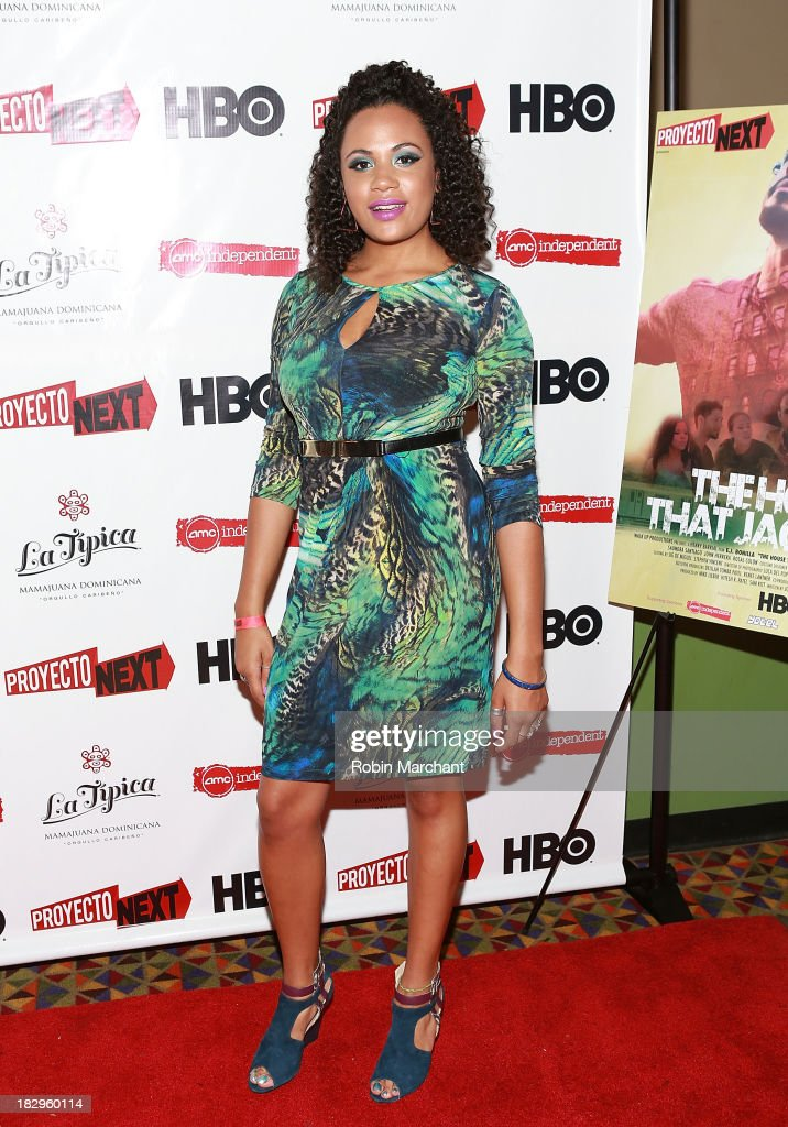 Camille Safiya attends the premiere of the 'The House That Jack Built' at AMC Empire 25 theater on October 2, 2013 in New York City.