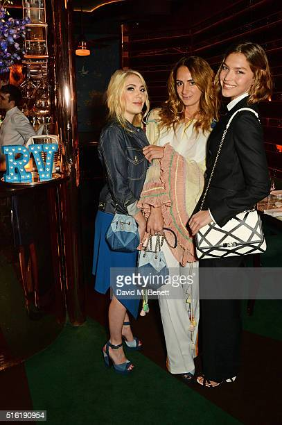 Camille Seydoux Alexia Niedzielski and Arizona Muse attend a dinner hosted by Roger Vivier to celebrate the Prismick Denim collection by Camille...
